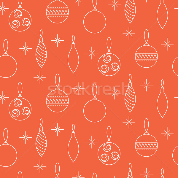 Stock photo: Christmas decoration seamless vector pattern.