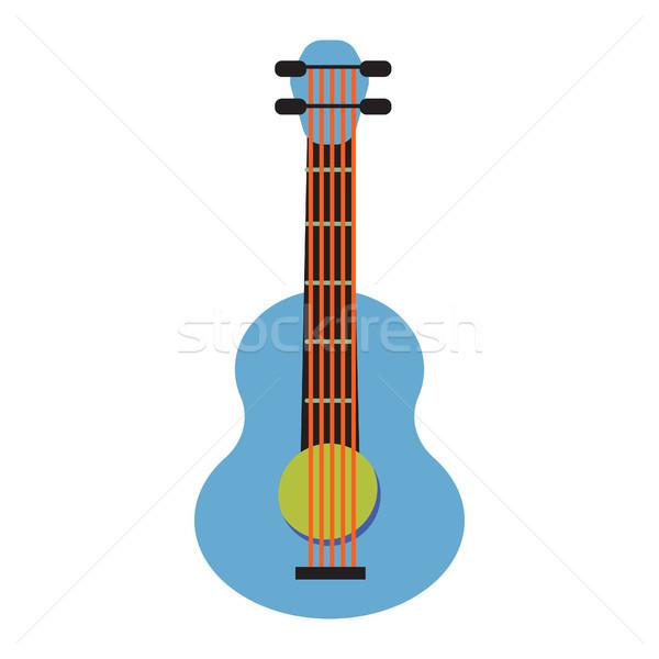 Pop art guitar cartoon vector illustration. Stock photo © yopixart
