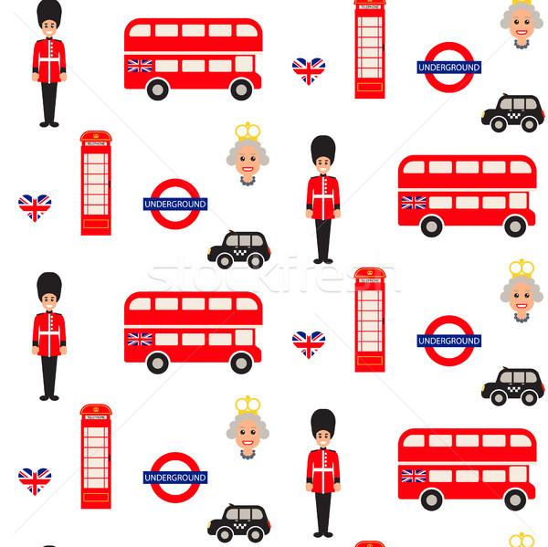 England symbols vector seamless pattern. Stock photo © yopixart