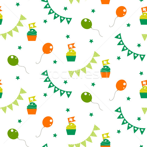 Irish celebration party seamless vector pattern. Stock photo © yopixart