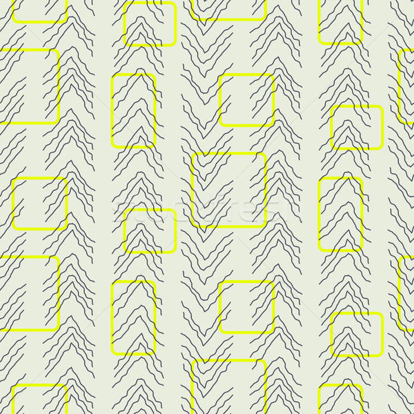Tiny herringbone and rectangles line seamless vector pattern. Stock photo © yopixart