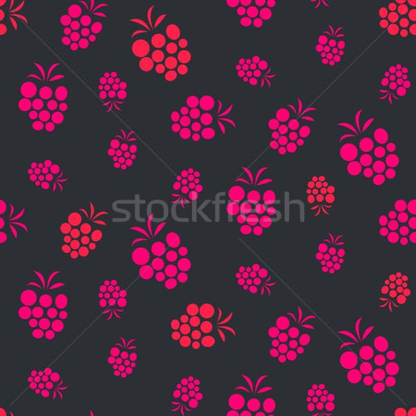 Lampone rosa viola frutti di bosco frutta estiva Foto d'archivio © yopixart