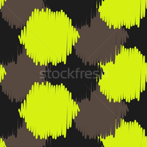 Ikat bold dots vector seamless pattern. Stock photo © yopixart