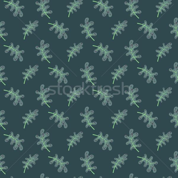 オーク 葉 緑 シームレス ベクトル パターン ストックフォト © yopixart