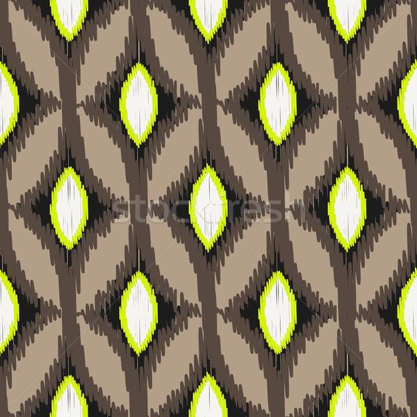 Vecteur résumé géométrique tissu imprimer Photo stock © yopixart