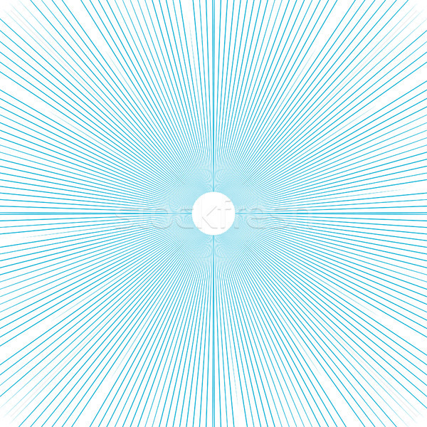 Sunburst background thin blue radial lines vector. Stock photo © yopixart
