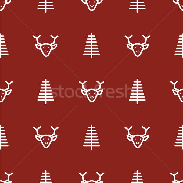 Escuro vermelho ano novo simples ícone vetor Foto stock © yopixart