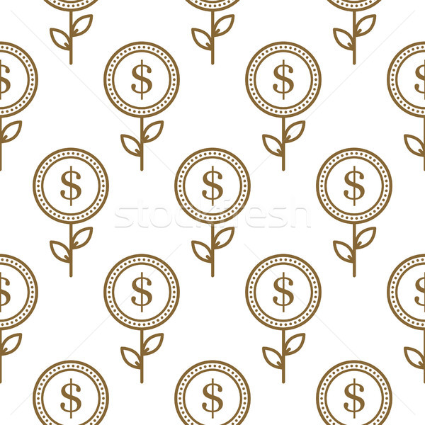 доллара валюта символ цветочный аннотация Сток-фото © yopixart