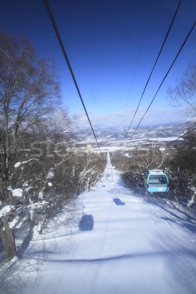 Esquiar correr natureza neve gelo azul Foto stock © yoshiyayo