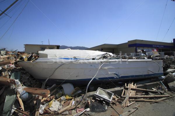 Nagyszerű Japán földrengés Stock fotó © yoshiyayo