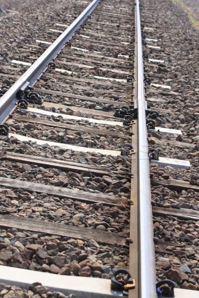Trilho seguir para cima metal viajar maneira Foto stock © yoshiyayo
