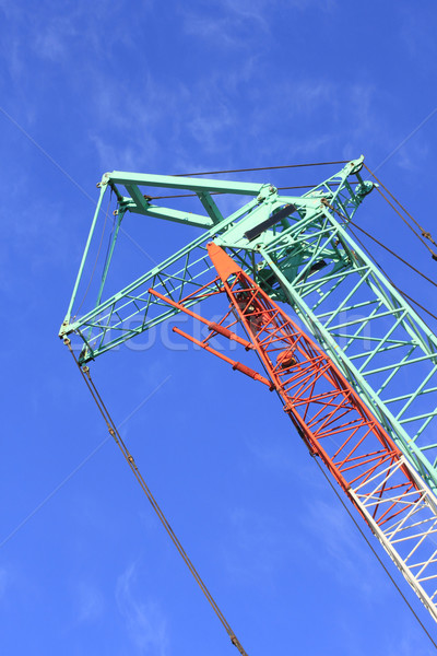 Guindaste máquina blue sky negócio trabalhar metal Foto stock © yoshiyayo