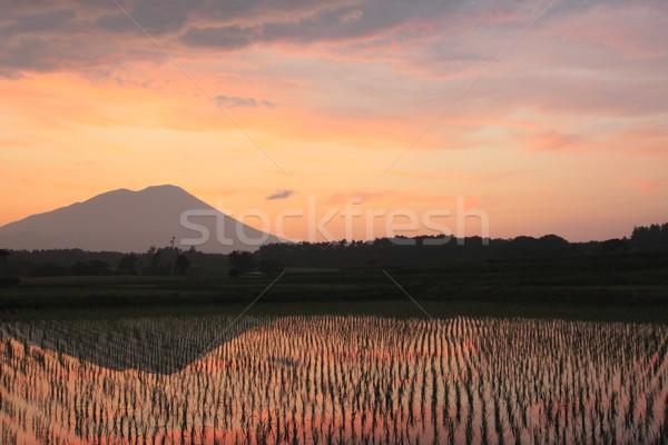 Mt.Iwate in twilight Stock photo © yoshiyayo