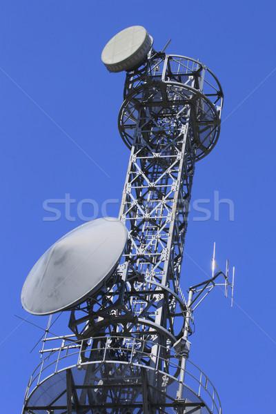 Comunicações torre belo blue sky céu azul Foto stock © yoshiyayo