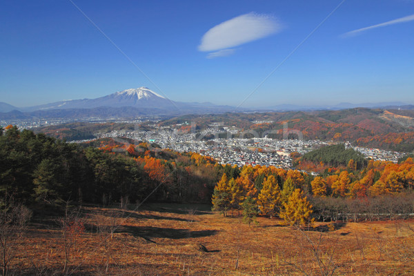 mountain and blue sky Stock photo © yoshiyayo