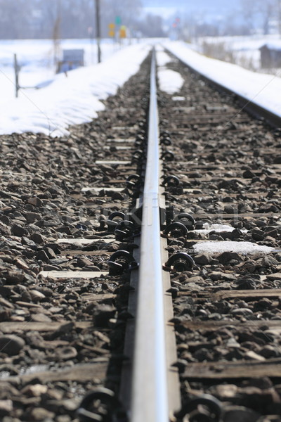 snow field and rail Stock photo © yoshiyayo