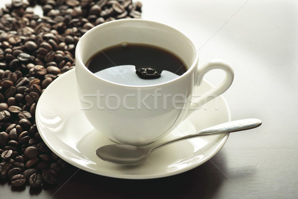 Copo quente café mesa de café beber Foto stock © yoshiyayo