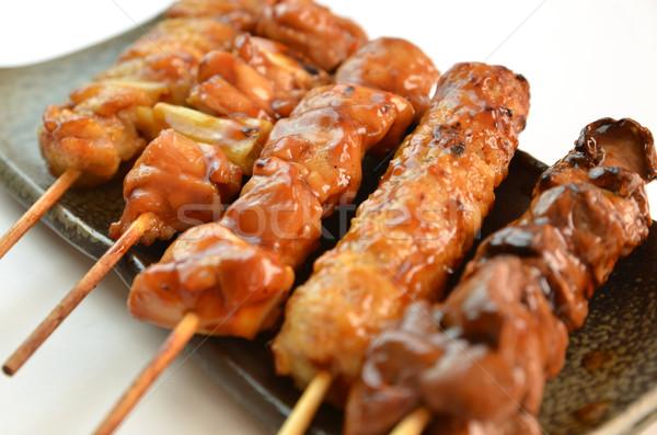 Frango quadro japonês famoso pratos prato Foto stock © YUGOKYOGO