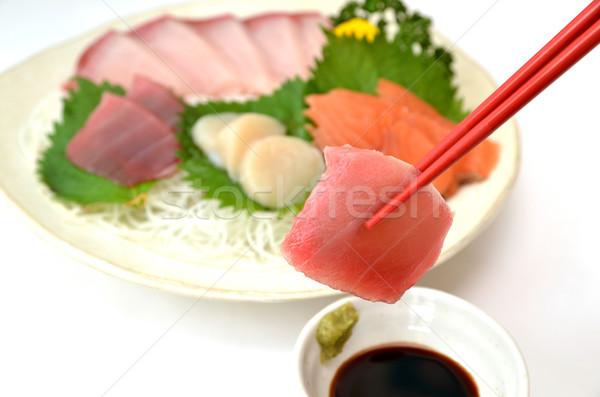 Taze sashimi resim Japon geleneksel bulaşık Stok fotoğraf © YUGOKYOGO