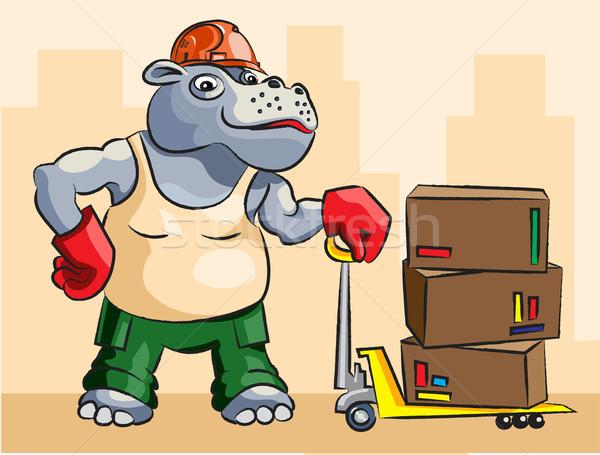 Hippopotamus - loader Stock photo © yul30