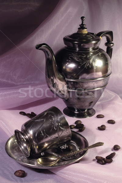 Coffee pot and cup Stock photo © yul30
