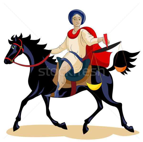 Equestrian of the Apocalypse, Hunger Stock photo © yul30