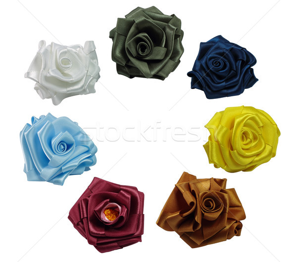 Stock photo: Roses from silk