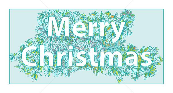 Wenskaart christmas vrolijk decoratief hand Stockfoto © yulia_mayevska