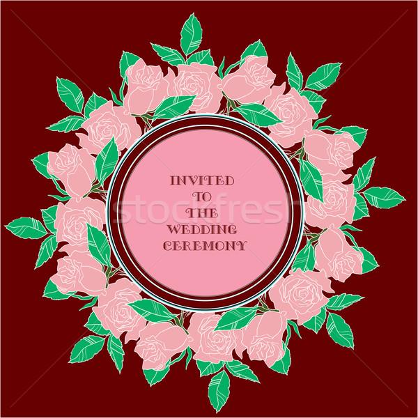 Stockfoto: Huwelijksceremonie · ontwerp · idee · kaarten · bruiloft · partij