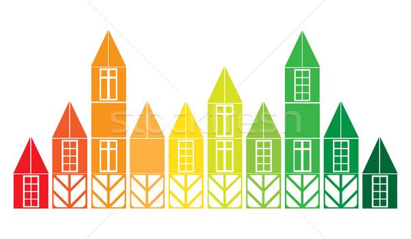 Onroerend ontwerp vector verkoop huis bouw Stockfoto © yulia_mayevska
