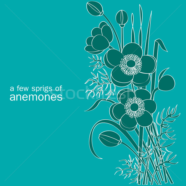 a few sprigs of anemones Stock photo © yulia_mayevska