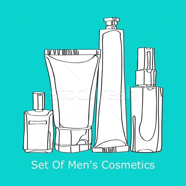 set of men's cosmetics Stock photo © yulia_mayevska