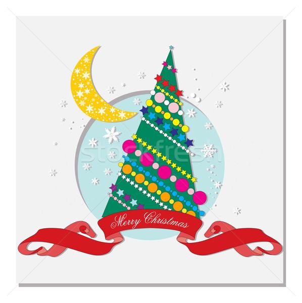 карт рождественская елка счастливым Сток-фото © yulia_mayevska