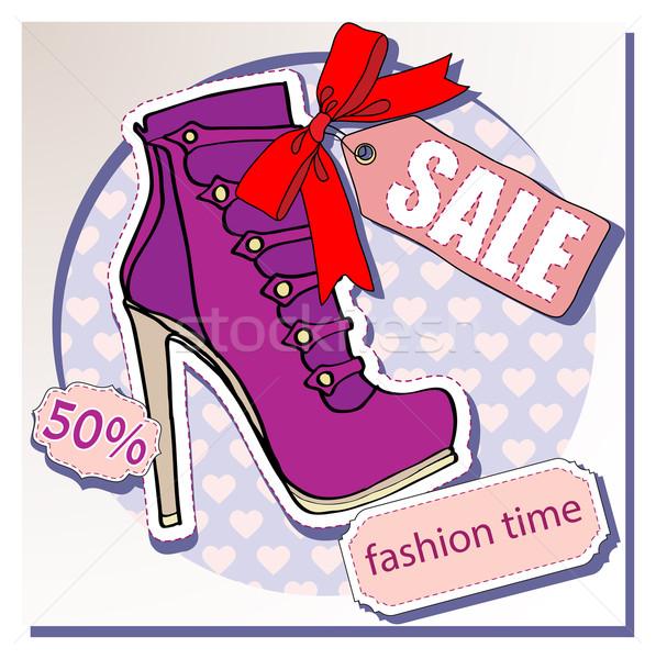 Verkopen schoenen schoen business vrouw mode Stockfoto © yulia_mayevska