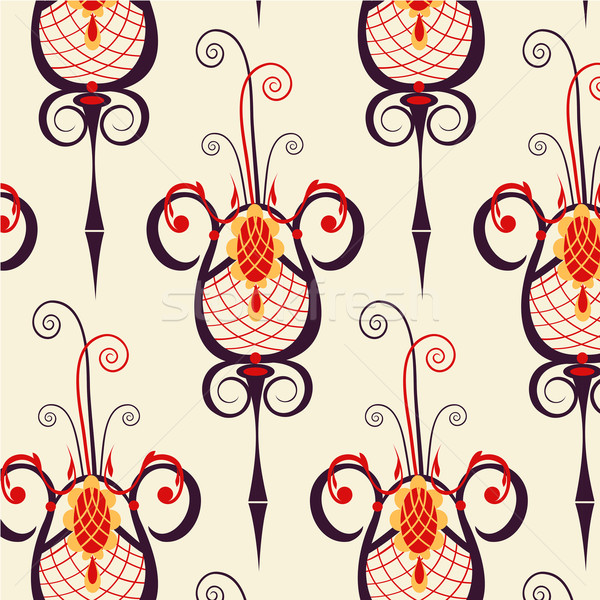 Vintage barok ornament patroon naadloos textuur Stockfoto © yulia_mayevska