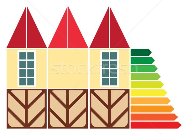 Onroerend diagram groei prijzen business huis Stockfoto © yulia_mayevska