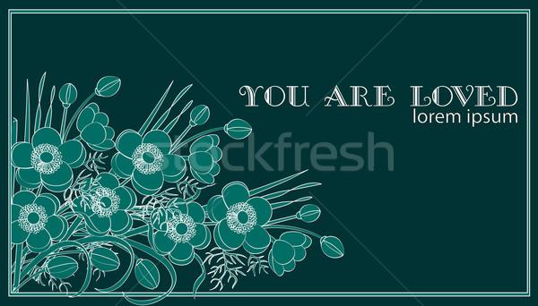 Uitnodiging wenskaart ontwerp idee bloem partij Stockfoto © yulia_mayevska