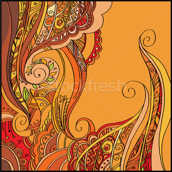 Abstract vector decoratief cartoon bloemen Stockfoto © yulia_mayevska