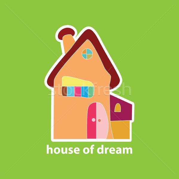 Stockfoto: Huis · droom · dromen · huren · verkoop · onroerend