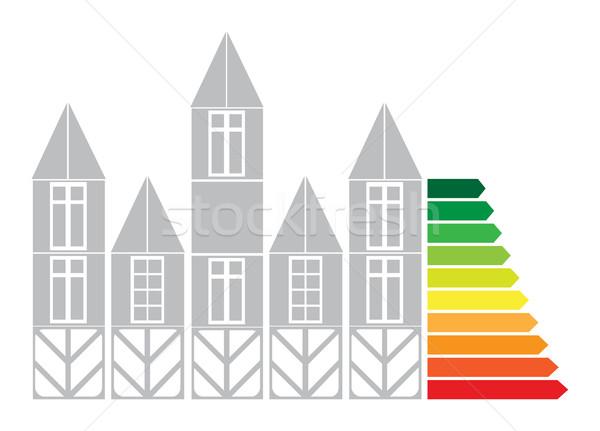Stockfoto: Onroerend · diagram · groei · prijzen · business · huis