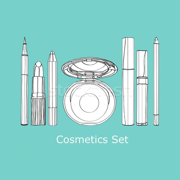 set of decorative cosmetics Stock photo © yulia_mayevska