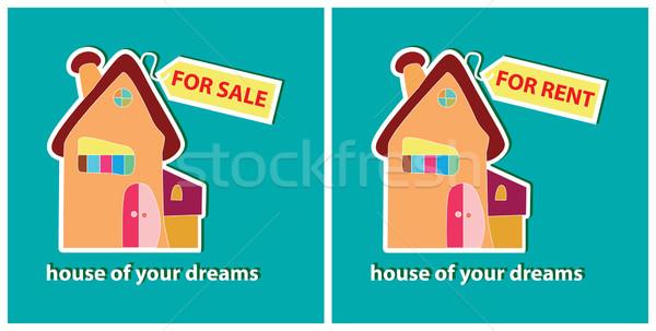 Huis verkoop huren vector business Stockfoto © yulia_mayevska