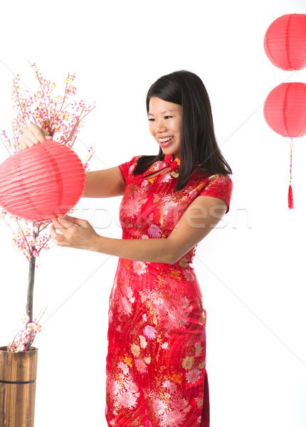 Çin kız mutlu moda çocuk Stok fotoğraf © yuliang11
