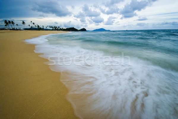 Strand hemel landschap Blauw golf eiland Stockfoto © yuliang11