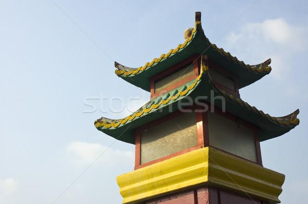 Chino pagoda cielo viaje Asia religión Foto stock © yuliang11