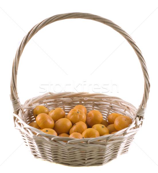 Chinês mandarim laranjas cesta comida deserto Foto stock © yuliang11