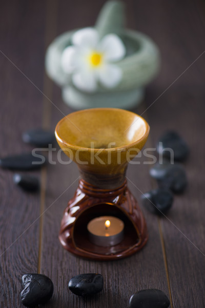 tropical frangipani spa health treatment with aroma therapy and  Stock photo © yuliang11