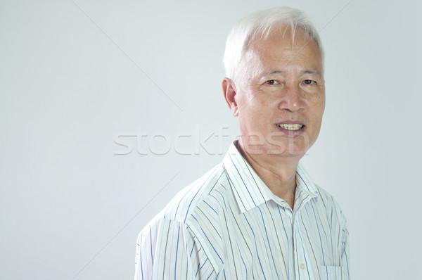 Kıdemli Asya iş adamı portre yüz Stok fotoğraf © yuliang11