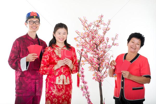 Mutlu aile kadın sevmek Stok fotoğraf © yuliang11