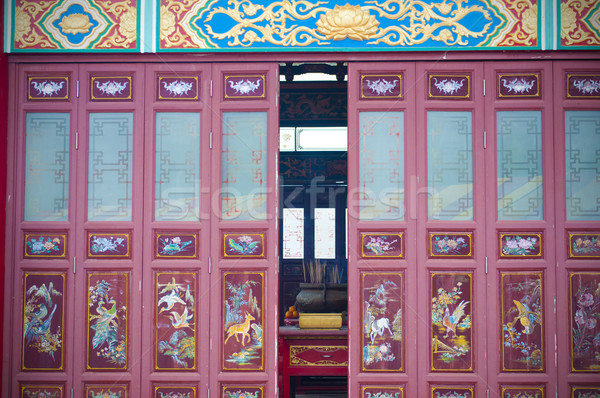 feng sui door with traditional oriental decoration Stock photo © yuliang11